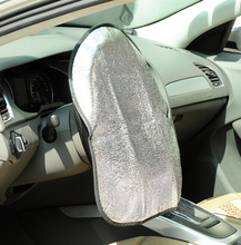 Double Thicken Aluminum Foil Anti Hot Automotive Car Steering Wheel Sun Shade Cover