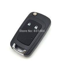 Replacement Folding Remote Control Key Blank for chevrolet epica lova spark remote flip key case 2 Button fob(China)
