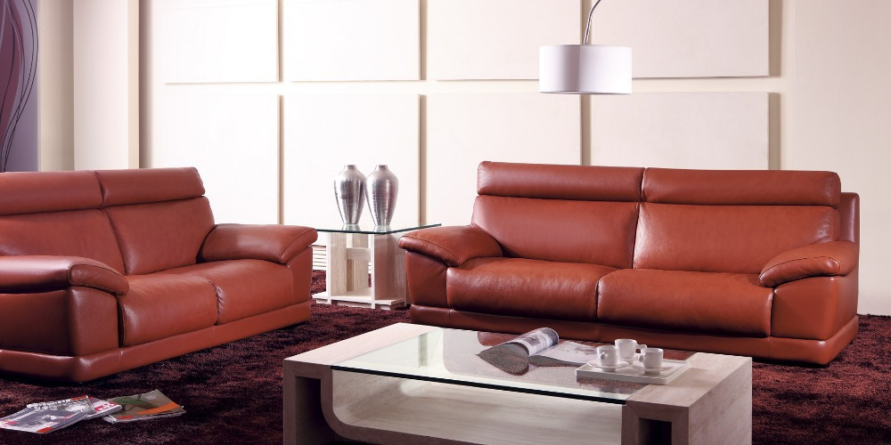 ... Cow Genuine Leather Sofa Set Living Room Furniture Couch Sofas Living  Room Sofa Sectional Corner ...