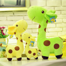 7''18cm Cute Giraffe Plush Toy Soft Animal Deer Doll Colorful Dolls for Baby Kids High Quality