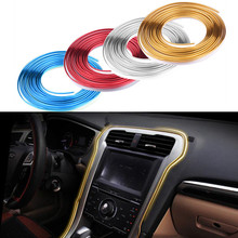 5M Car Styling Chrome Interior Moulding Trim Flexible Decoration Strip Sticker Decal For Toyota BMW Benz Audi Ford Honda Kia VW