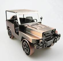 Retro Iron Car Model Decoration Jardin Metal Vintage Home Decor Creative Crafts Nautical Decor Mini Garden Decoration
