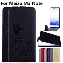 3D Rose Flowers Pattern Phone Cases For Meizu M3 Note Cover PU Leather Wallet Bus Card Slot Flip Case For Meizu M3 Note Case