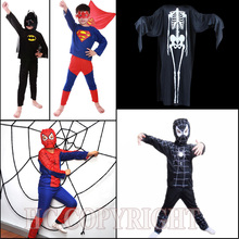 Halloween Xmas Boys Girls Dress Up Cosplay Costume Super Hero Children Theme Party Costume Spiderman Batman Superman Clothing