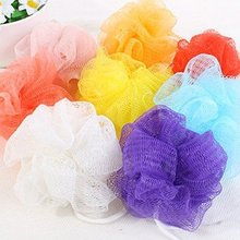 Cute bath ball mix color high quality Bath Brushes Sponges & Scrubbers free shipping(China)