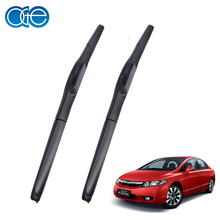 Pair Windscreen Wiper Blade For Honda Civic Sedan 2012 2013 2014 Windshield Silicone Windshield Glass Rubber Car Accessories