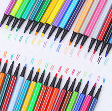 12 Different Colors Strip Candy Style Sketch Marker Pen Water Based Assorted Ink Arts Drawing Graffiti Hook Fiber Pen DD615