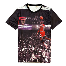 2017 NEW Print michael Jordan Shirt Mens O Neck 3D Image Jersey Fashion Dunk Tee&Tops Graphic Hip Hop Famous Brand T Shirt(China)