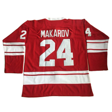 Black Friday Sergei Makarov 24 Hockey Jersey CCCP RUSSIA 100% Stitched Red Ice Hockey Shirts For Mens Size S-3XL(China)