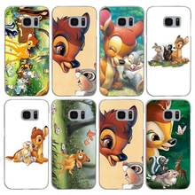 H040 Bambi And Thumper Transparent Hard PC Case Cover For Samsung Galaxy S 3 4 5 6 7 8 Mini Edge Plus Note 3 4 5