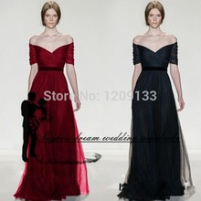 formal long evening dress 2017 new sexy v-neck off the shoudler lace up red party dresses prom gowns vestido de festa longo
