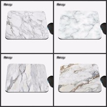 Mairuige Modern Faux Gold Glitter Marble Unique Desktop Pad Mousepads Computer Animation Rectangular Mouse Mat Round Mice Pad(China)