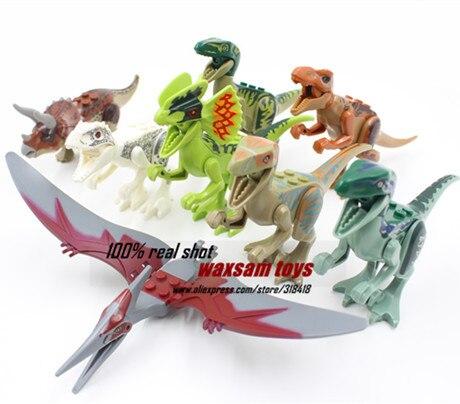 Jurassic World Dinosaur Figures Jurassic Park 4 Minifigures Bricks Models &amp; Building Toys for Children 8pcs/Set LepinCompatible<br><br>Aliexpress