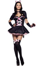 Sexy Adult Female Costumes Cat Girl Cosplay Costumes Halloween Cute Catwoman Role Play Fantasy Disfraces Dress