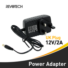 Led Strips Lights AC 100-240V to DC 12V2A UK Plug AC DC Power Adapter Charger CCTV Power Supply Adapter