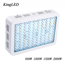 White&black Best KingLED Double Chips Full Spectrum LED Grow Light 600W/1000W/1500W/2000W for Aquario Hydroponic Lamp High Yield(China)
