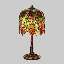13 Inch Tiffany Table Lamps Luxurious Ancient Garden E27 Bedside Lamps Living Room Decoration Bedroom Lamp(China)
