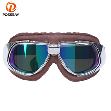POSSBAY Goggles Motocross Goggle Glasses Motorcycle Cycling Goggles Cruiser Steampunk Bicycle Helment Glasses Ski Skate Eyewear(China)