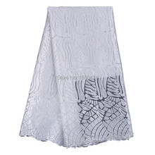 2016 So attractive white guipure lace fabric fast shipping french net lace fabric 2016 latest african guipure 5yards/piece
