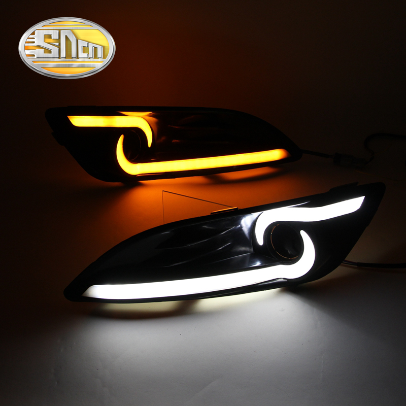 For Ford Fiesta 2013 - 2016,With Yellow Signal Function Waterproof ABS Cover Car DRL 12V LED Daytime Running Light Daylight SNCN<br>