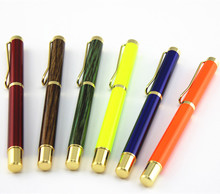 New classic  orange Metal roller ball pen Ball Point Business  for Writing Custom with Logo Gifts