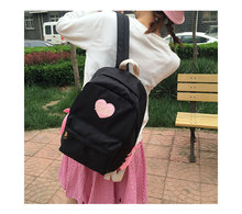 Japanese harajuku preppy style school bag sweet lovely backpack sosft sister bandage student cute book bag with bow heart bag