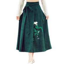New Brand Quality Summer Women Skirt Original Style Vintage Feminina Fashion Hand-Paint Full-Skirted Cotton Skirt Casual Clothes(China)