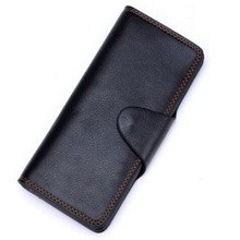 Supreme Fire Wallet (Black leather, Long) - magic trick,accessories,gimmick,wallet magic,card magic,mentalism(China)