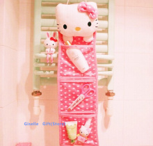 Kawaii Hello KITTY Plush Hanging Storage Pouch BAG CASE ; Home Pendant Coin & Sundrie Case Holder BAG Case Container