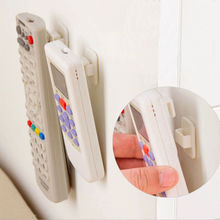 Plastic Hooks 1 pair Sticky Hook Set TV Air Conditioner Remote Control Key Practical Wall Storage Holder Strong Hanger