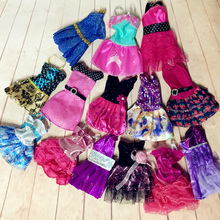 Lot 20 Items = Random 10 Fashion Dresses Sets Outfit Skirt/Dress/Trousers Clothes + 10 Pair Shoes For Barbie Doll(China)