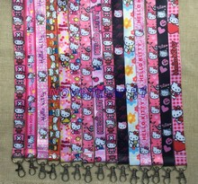 Lot 500Pcs mixed Classic hello kitty Cartoon Mobile Cell Phone Lanyard Neck Straps Party Gifts MM952(China)