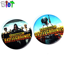 STG Game Playerunknown's Battlegrounds Letter Logo Round Tin Plate Badge School Bag Brooch Clothes Lapel Pin Fans Gift Jewelry