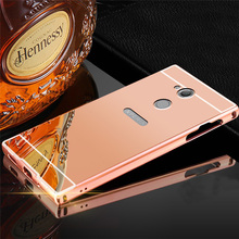 Buy Sony Xperia XA2 / XA2 Ultra Case Mirror Aluminum Metal Bumper Sony Xperia XA2 Case Hard PC Back Cover Luxury Plating for $2.96 in AliExpress store