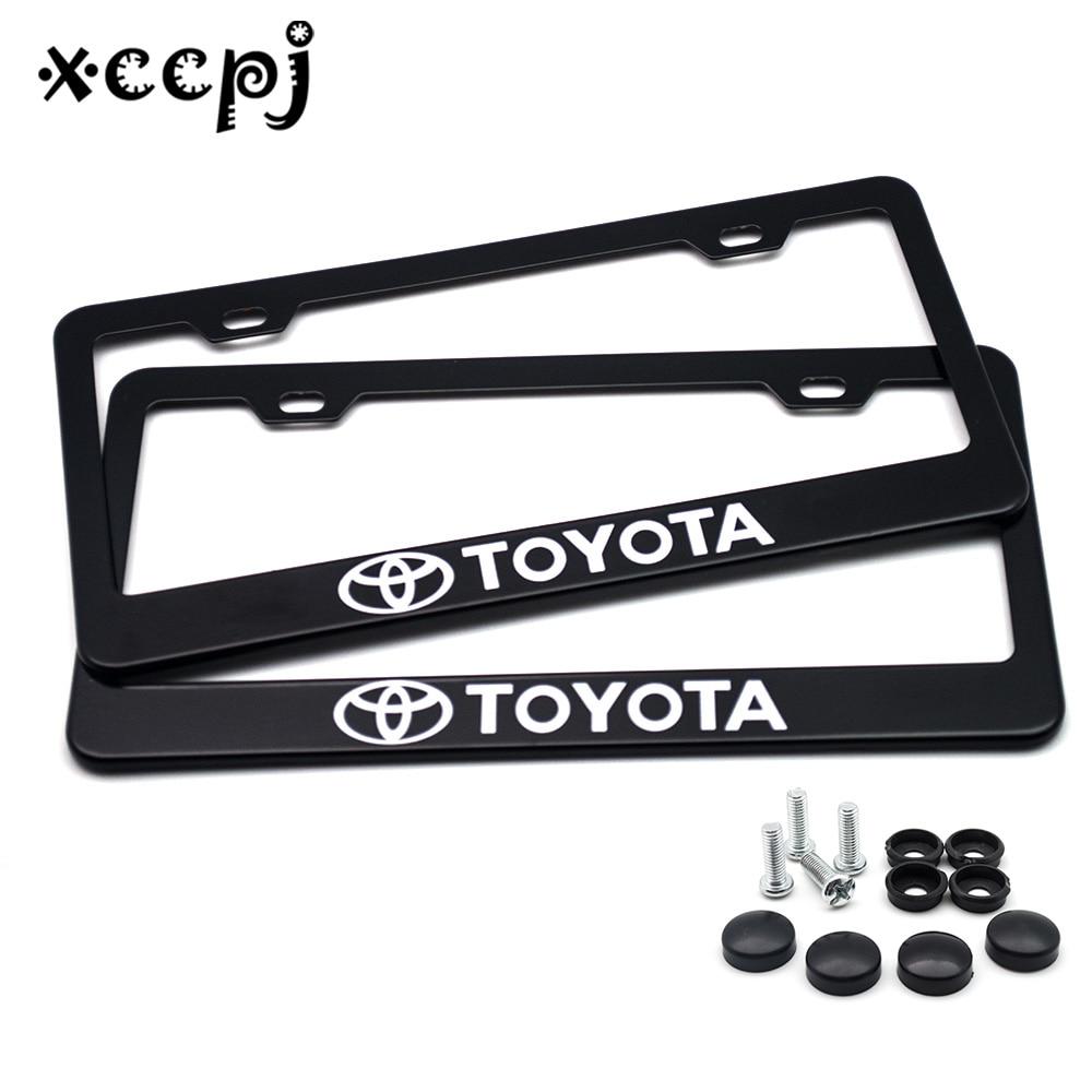 Automotive Black License Plate Frame Toyoda Style