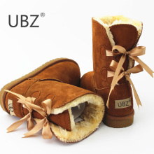 High Quality ! SALE Women Australia Snow Boots Sheepskin Fur Baileys Bow boots women winter boots snow boots big size US:4-11