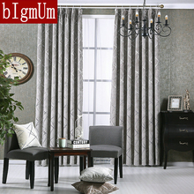 New Style Windows Curtains For Living Room Bedroom Hotel Gold yarn Jacquard  Flowers Drapes Blackout Window Drapes Custom Made