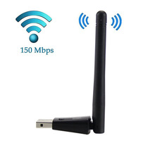 Portable 150Mbps Wireless WiFi Adapter 2.4GHz WLAN Network Card USB WiFi Receiver 2DB Wifi Antenna XXM(China)