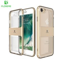 FLOVEME Luxury Case for Apple iPhone 6 6S 7 Ultra Thin Clear Travelling Silicone Hybrid Dual Cover for iPhone 6 6S 7 Plus Coque