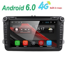 Android 6.0 Quad Core 2 Din Stereo 1024*600 Car DVD Player for Volkswagen Golf Plus Golf R Polo EOS SWC DVR (DTV DAB+ Optional)(China)