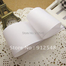 Free shipping 1-1/2'' /38mm White solid color grosgrain ribbon,lwd015(China)