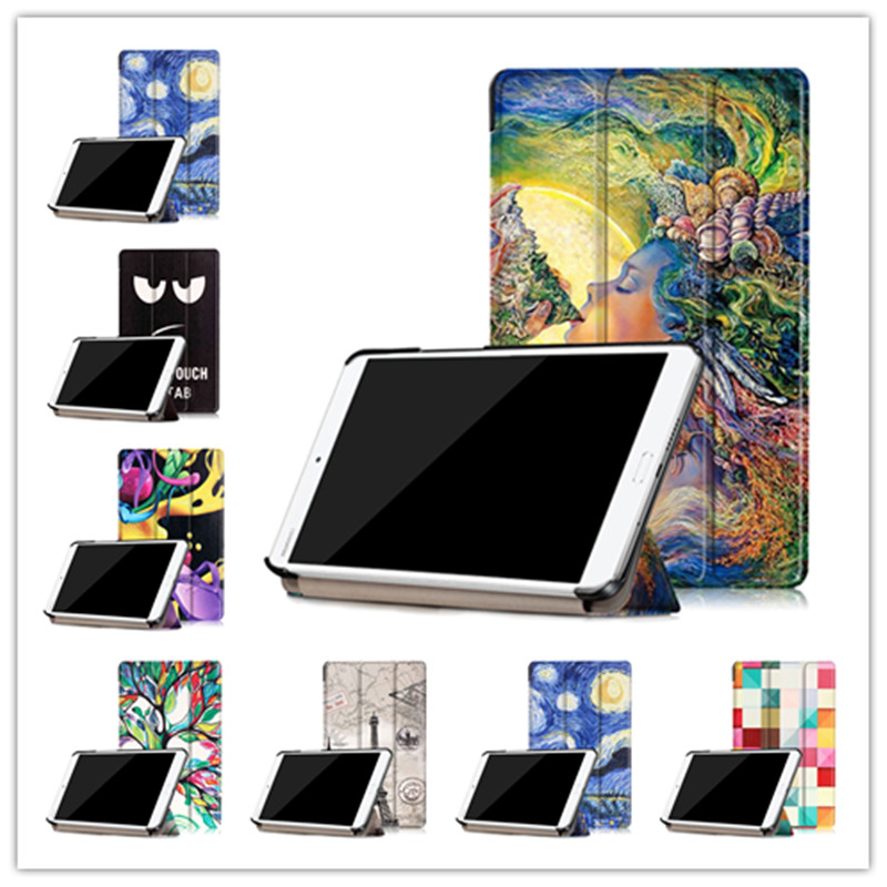 Colorful Printed  Ultra Slim PU Stand Leather Case Protective Cover ForHuawei MediaPad M3 BTV-W09 BTV-DL09 8.4 inch+screen film<br><br>Aliexpress