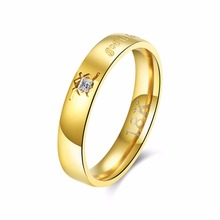 2017 love promise wedding Rings never fade stainless steel fashion brand name trendy jewelry female women 214