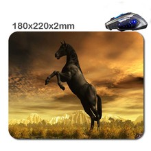 Horses Mouse Pad Printing Production Mode And Your Favorite Photos/Can Be Used To Laptop Mini Pc 180*220*2mm