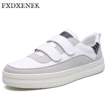 FXDXENEK 2017 New Men Casual Shoes Breathable Luxury Suede White Shoes Men Fashion Brand Designer Lace Up Flat Men's Sneakers(China)
