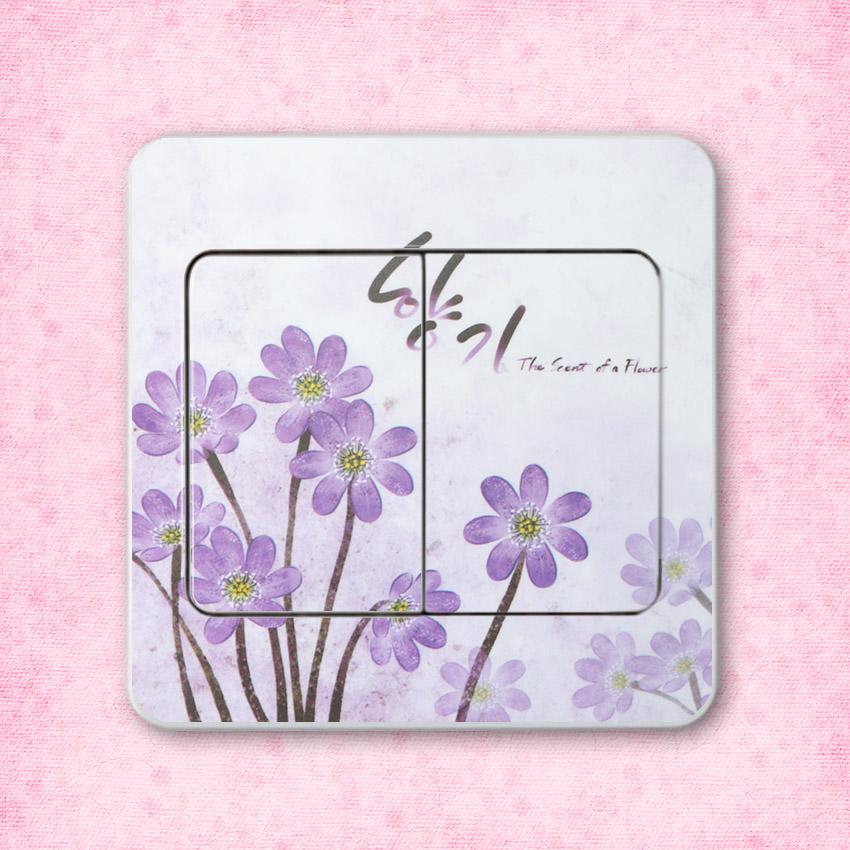 HTB1XdhBdY1YBuNjSszhq6AUsFXaG - 10 PCS High Quality Flower Series PVC Switch Stickers