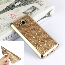 Luxury Glitter Golden Silicon Case For Samsung Galaxy A5 J3 J5 J7 2016 S4 S5 S6 S7 Edge Grand Prime Cover For iPhone 7 6S Plus 5