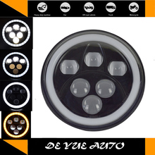 cost 60w led head lamp Toyota FJ CRUISER 7 inch round LED front lights jeep CJ CE cetified waterprood - DE YUE AUTO PROFESSIONAL OFFROAD LIGHT store