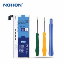 NOHON 4G 3.7V Battery for iPhone 4 Li-ion Battery Replacement 1420mAh Capacity with Screwdriver Tools Set(China)
