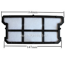 2 pieces/lot Replacement Robot Vacuum Cleaner Parts First HEPA Filter for ilife V7,Ecovacs CR130,CR131,V780(China)